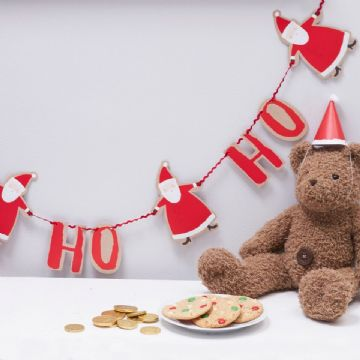 Ho Ho Ho Santa Red and White Christmas Bunting - 2m